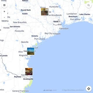 Discovery map - Our selection of must-see places in and around Houston