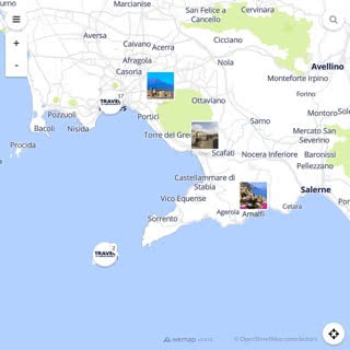 Discovery map - Our selection of must-see places in and around Naples