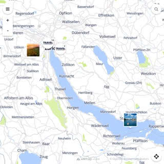 Discovery map - Our selection of must-see places in and around Zurich