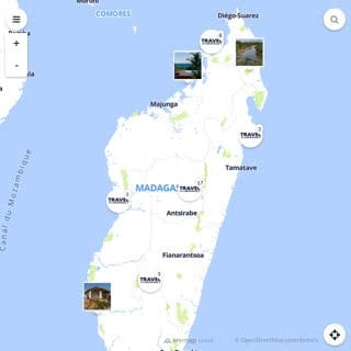 Discovery map - Our selection of must-see places in Madagascar