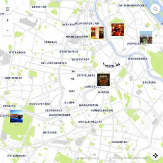Discovery map - Our selection of must-see places in and around Vienna