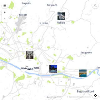 Discovery map - Our selection of must-see places in and around Florence