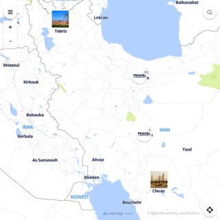 Discovery map - Our selection of must-see places in and around Tehran
