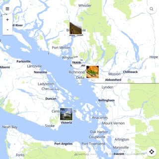 Discovery map - Our selection of must-see places in and around Vancouver