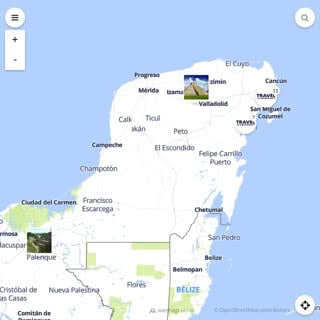 Discovery map - Our selection of must-see places in and around Cancun