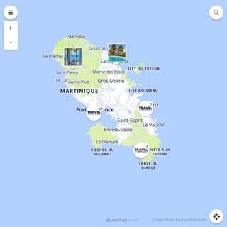 Discovery map - Our selection of must-see places in Martinique