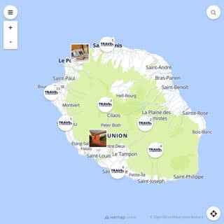 Discovery map - Our selection of must-see places in Réunion