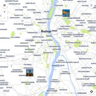 Discovery map - Our selection of must-see places in and around Budapest