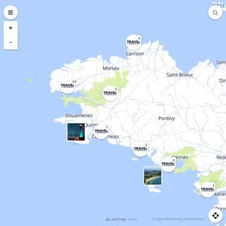 Discovery map - Our selection of must-see places in and around Brest