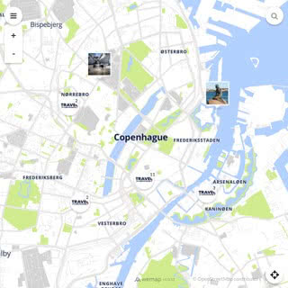 Discovery map - Our selection of must-see places in and around Copenhagen
