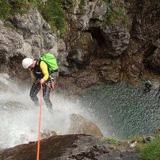 Hiking and canyoning in the Purcaraccia waterfalls