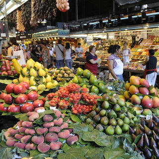 A million and one colours at the Boqueria Market