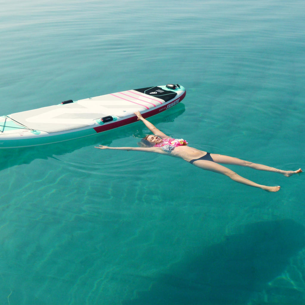 Paddle yoga with a former windsurfing champion