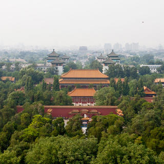 Jingshan Park : a bird's-eye view of the Forbidden City