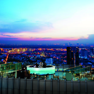 Admire Bangkok from the high-flying terrace of the Octave Bar