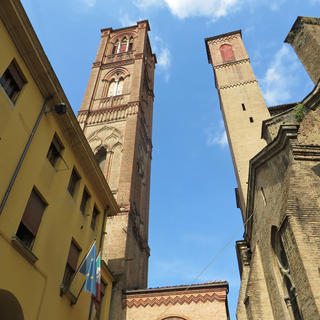 The Asinelli tower, the highest in Bologna