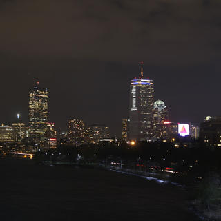 Boston seen from the sky at the Prudential Tower
