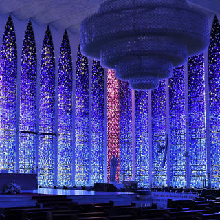 Dom Bosco Sanctuary, a dream in blue