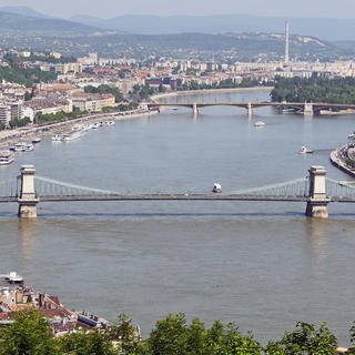Atop Gellért Hill, all Budapest stretches out before you