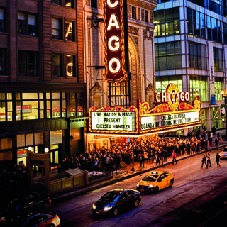 The Chicago Theatre, temple of American cinema