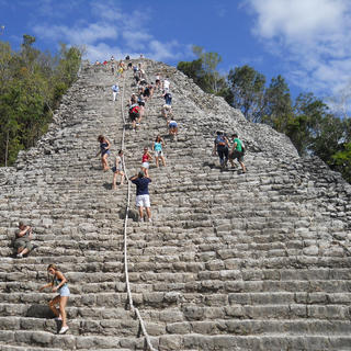 Climb to the top of the Coba Pyramid