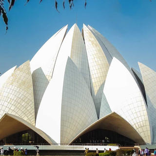 The Lotus Temple blooms in the eyes of the world
