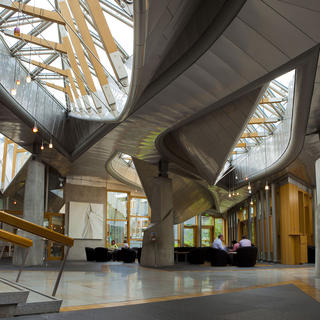 Admire the architecture of the Scottish Parliament