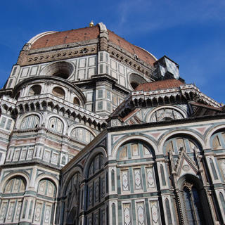 Three in one: the Duomo, baptistery, and campanile