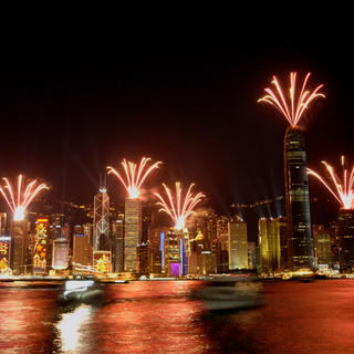 Take the Star Ferry during the Symphony of Lights show