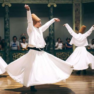 Whirling dervishes and the mystic dance