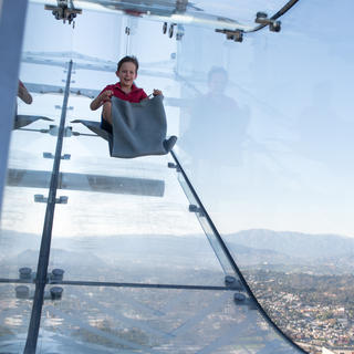 The Skyslide: a 300-metre-high slide