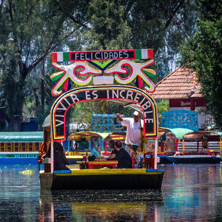 Take a boat to Xochimilco