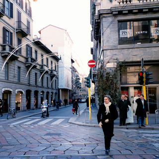 Via Monte Napoleone: the fashion district