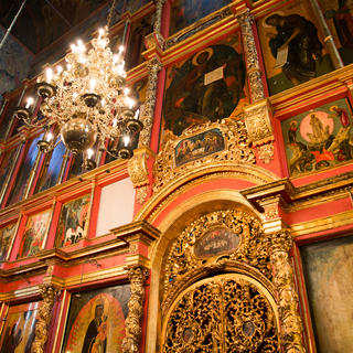The Cathedral of the Archangel celebrates Russia's battle victories
