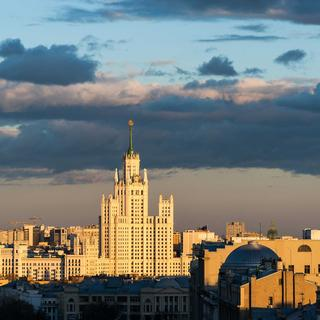 "On the roofs of the ""Seven Sisters"" of Moscow"