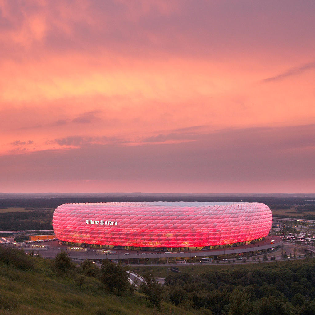 The Allianz Arena is a chameleon