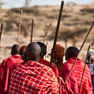 Meeting the Maasai people