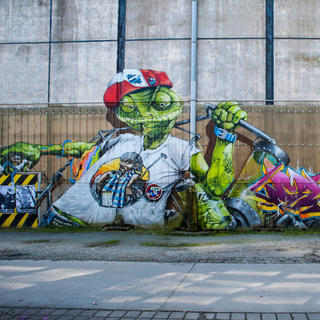 Graffiti nudges the urban landscape