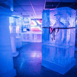 For a glass of ice at Magic Ice Bar
