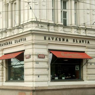 Patriotic intelligentsia at Café Slavia