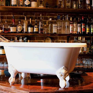 The chic saloon of Bathtub Gin & Co