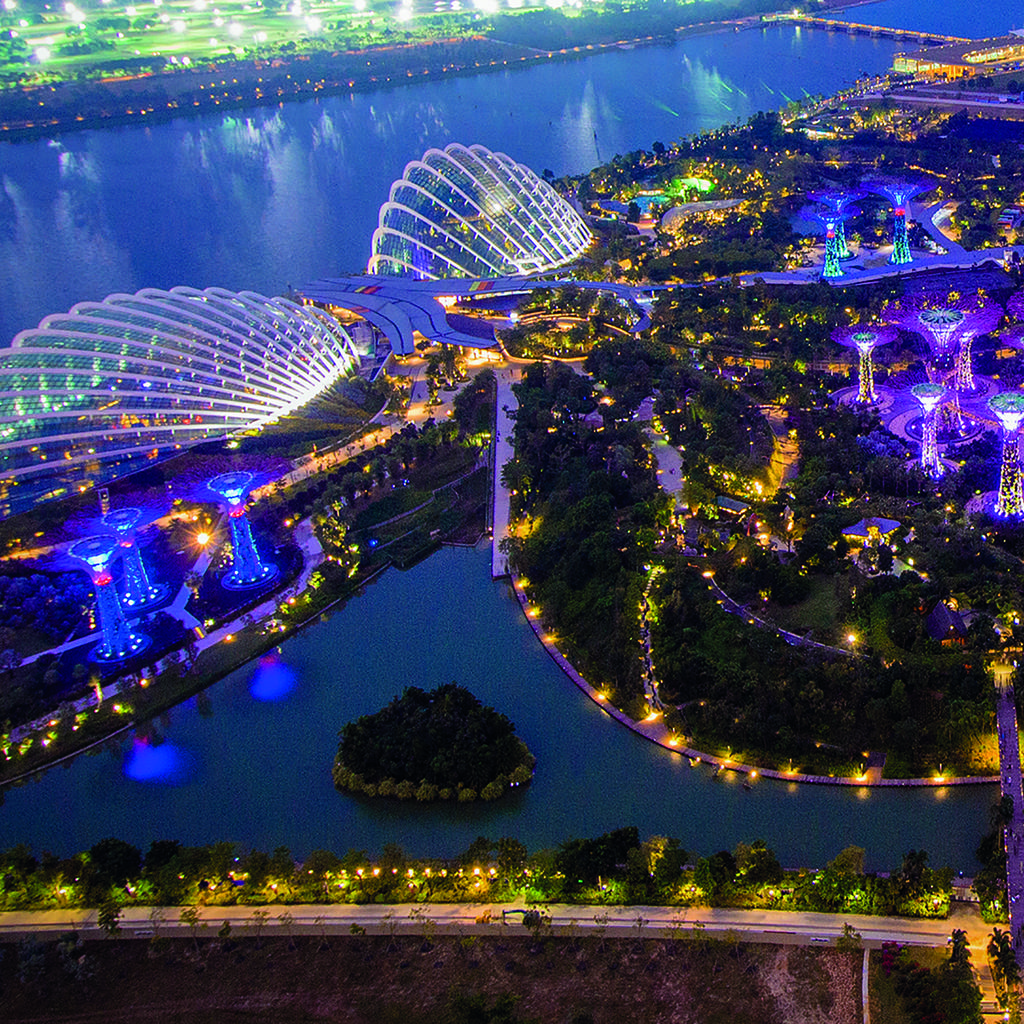 The 21st century gardens of the Gardens by the Bay