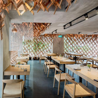 A gastronomic moment at the Wild Rocket with its Singaporean cuisine