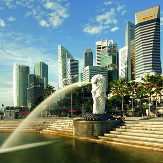 The Merlion: symbol of Singapore