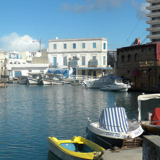 The old port of Bizerte, northwest of Tunis