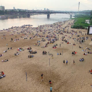 A central escape on the banks of the Vistula