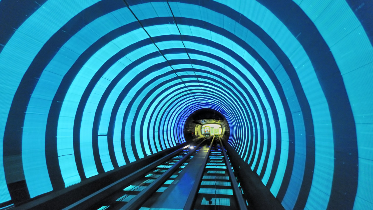 Shanghai (China):  Lose yourself in the 600 metres of psychedelic halls of the Bund Tunnel.