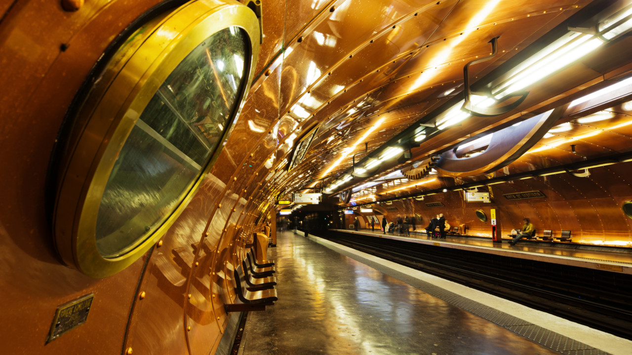 Paris (France):  Imagine yourself in a Jules Verne novel during a stop at the Arts et Métiers station.