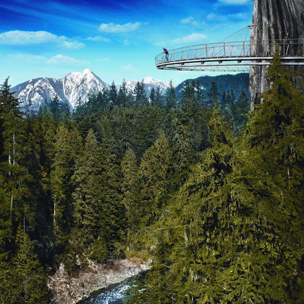 Crossing the Capilano Suspension Bridge