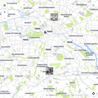 Discovery map - Our selection of must-see places in and around Berlin